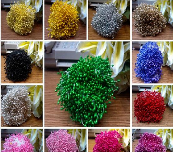 Hot Sale!!! 300pcs 3*60mm Pearl Flower Pistil Floral Stamen Buds Cake Decoration For DIY For Festival& wedding AE02018(China (Mainland))
