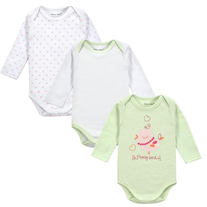 3 Pieceslot Newborn Baby Clothing Carters Baby Girl Boy Next Vestidos Infantis Body Long Sleeve Super Soft Baby Romper-3