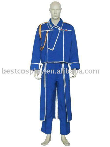 FullMetal Alchemist Roy Mustang Military Cosplay Costume free shipping