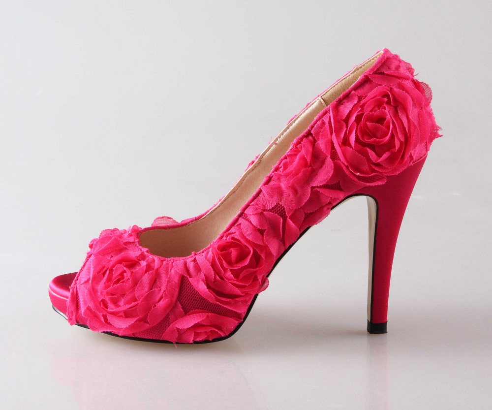 Pink Heels With Flower