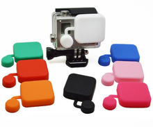 Gopro Hero 4 3+ Housing Protective Waterproof Case Cover Silicone Cover 7 Colors Soft Lens Cap Guard for Go Pro Hero 4 3+ GP118
