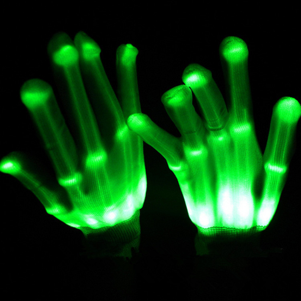 Pair of LED flash Gloves Rave Light Finger LED flashing gloves for Christmas event party gift New Year Decoration(China (Mainland))
