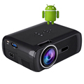 WZATCO Android 4 4 LED mini Projector Home Theater 1800Lumen HD LCD Video Wifi TV Projector