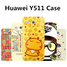 Huawei y511 case cover plastic New PC case for huawei y511 phone case 20 kinds cartoon huawei y511 plastic case cover