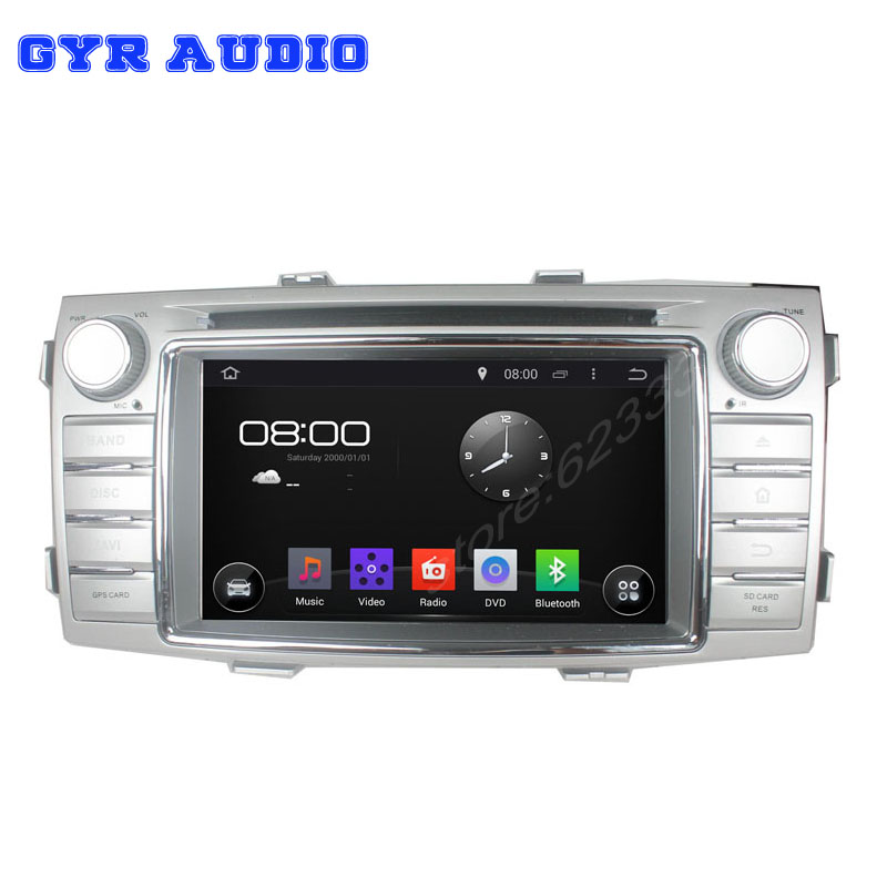 quad core Android 4.4 Car DVD gps navigation Player For Toyota hilux 2012 with WIFI 3G GPS USB Car radio Audio car stereo player(China (Mainland))
