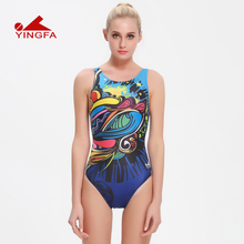 Yingfa 2016 one piece female swimwear women swimming racing suit competition swimsuits girls professional swim solid child