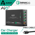 Aukey Quick Charge 2 0 54W 5 Ports QC2 0 USB Desktop Mobile Charger Station for