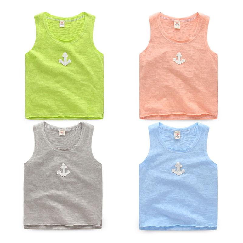 Sleeveless t-shirt baby boy cotton undershirt new children's summer(China (Mainland))
