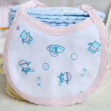 Baby bibs High quality double layers cotton kids baberos Cartoon child Character Animal Print babys bandana Children (China (Mainland))