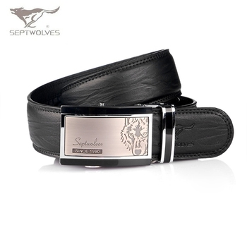 SEPTWOLVES Hot New arrive Fashion Man's Genuine Leather Belt Automatic Buckle Man Mens Real Leather Belts NO:5500 Free Shipping