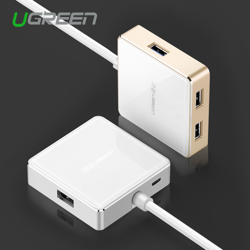 Ugreen High Speed Aluminum USB 3.0 4 Port USB HUB Splitter with Micro USB Charging Interface for PC Computer Macbook(China (Mainland))