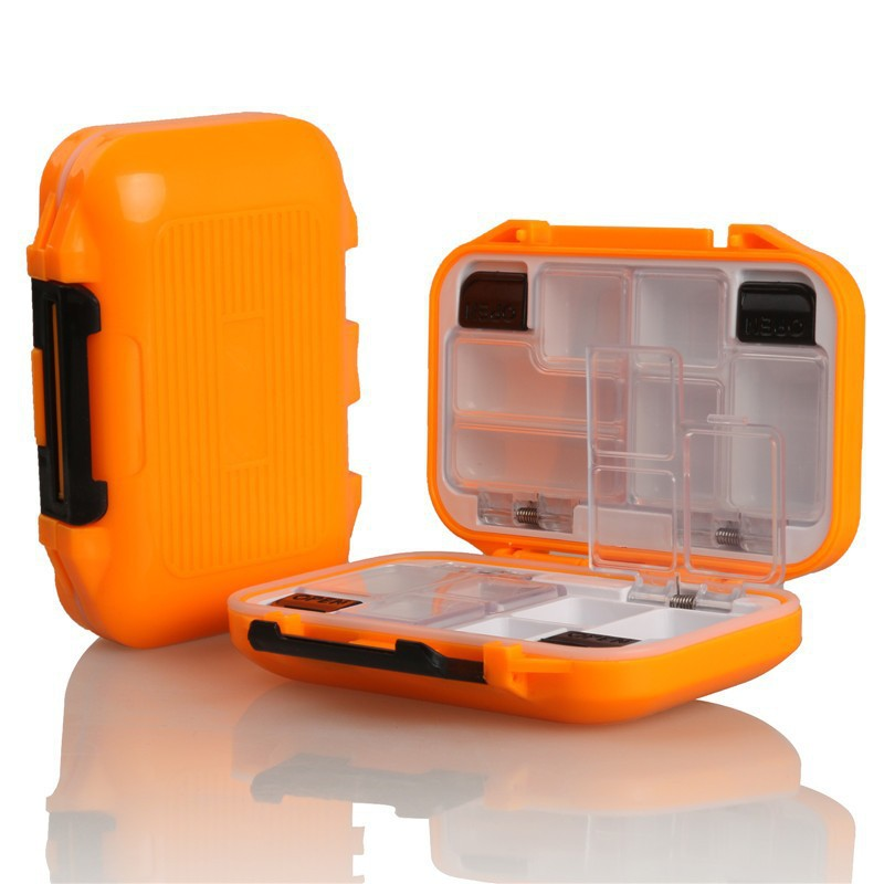 12 Compartments Waterproof Outdoor Fishing Storage Box Case Plastic Fly Fishing Lure Soft Hard Bait Spoon Hook Tackle Box Orange(China (Mainland))
