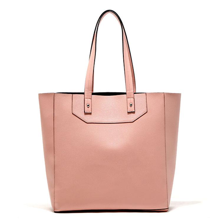 Bolsas Femininas Couro 2015 Women Leather Handbags Designers Famous Brand Women Shoulder Bag Ladies Handbags tipped shopper bag(China (Mainland))