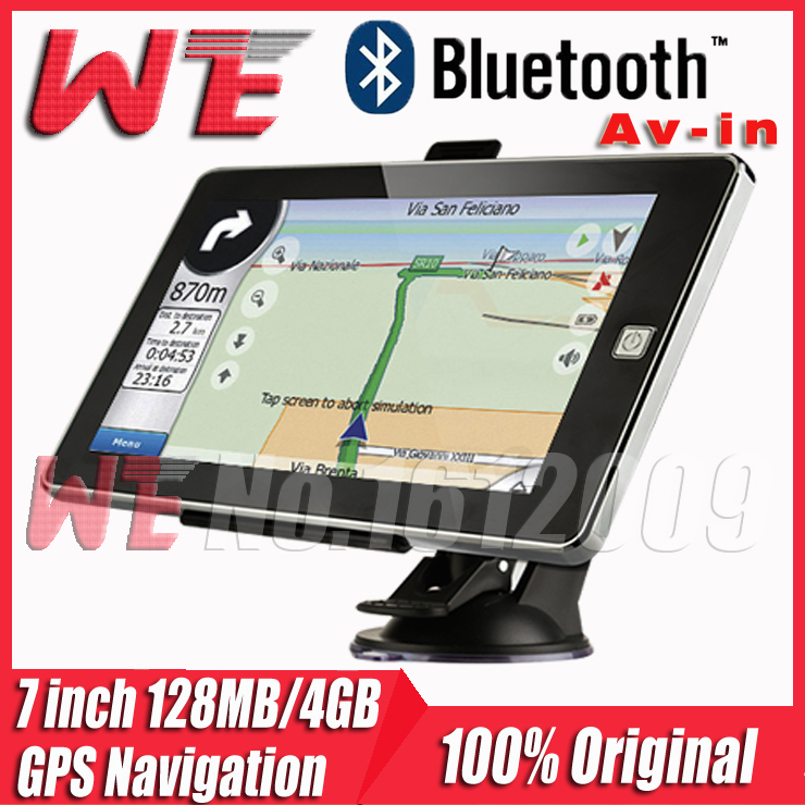 7 inch HD Car GPS Navigation Bluetooth/AV-in wince6.0 The newest Map Russia/Belarus/Spain/ Europe/USA+Canada/Israel Freeshipping(China (Mainland))