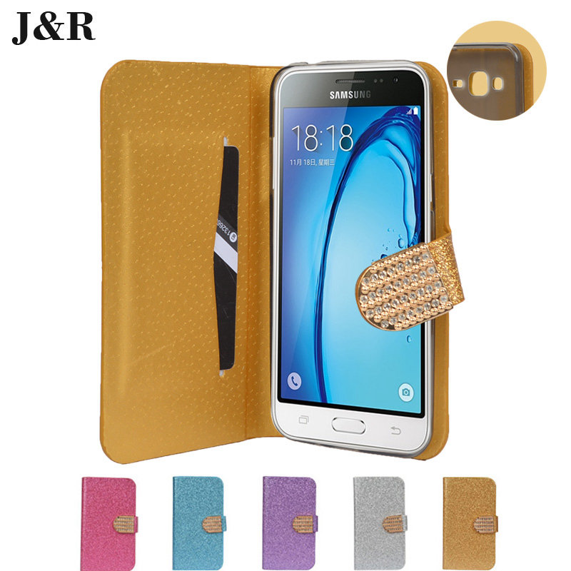 JR Case For Samsung j320 j320F flip cover For Samsung galaxy j3 2016 sm-j320fPhone Coque fundas Bling Pouch Flip Leather(China (Mainland))