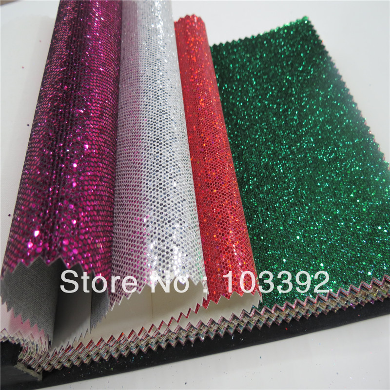 DIY High Quality Glitter Synthetic Leather Glitter Fabric For Crafts ,Shoes,Bags,Embroidery And Wall Covering (CAN CHOOSE COLOR)