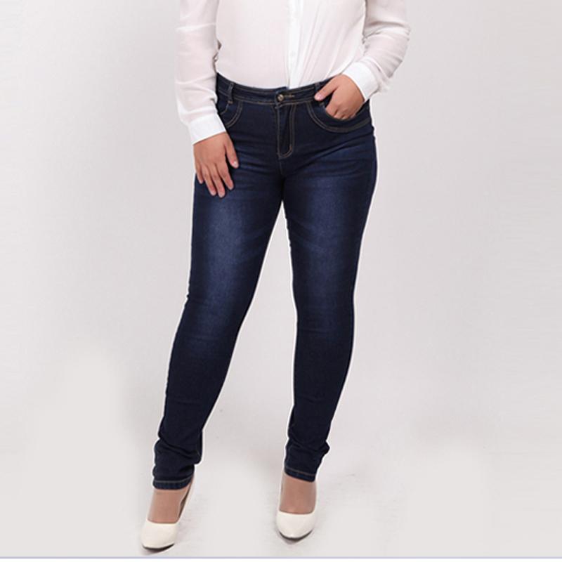 WOMEN JEANS 2017 Fashion High Waist Casual Denim skinny Pant Femme Pencil Jeans Trousers Female XL-4XL 7XL 5XL 6XL Plus Big Size