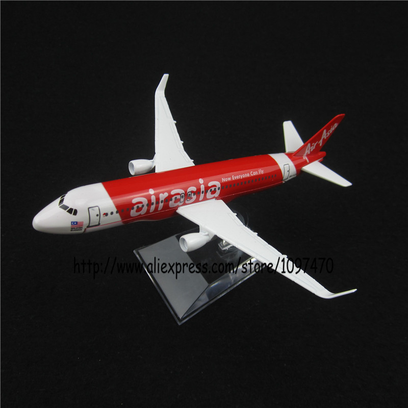 16cm Metal Alloy Plane Model Asian Air Asia Airways Airbus 320 A320 9M-AQQ Airlines Airplane Model w Stand Aircraft Toy Gift(China (Mainland))