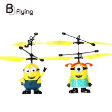 1 PC 2016 Fly Minion Toy RC Helicopter Radio Sensor Remote Control Mini RC Helicopter Gifts Male Or Female Sent In Random(China (Mainland))