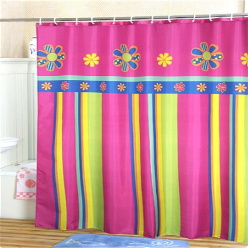 180cm modern polyester waterproof bathroom colorful