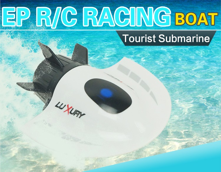RC Toys Mini Submarine Toy 4CH High Powered Speed RC Boat Ship 2.4G Radio Boat Plastic Tourist Submarine Model Outdoor Toys