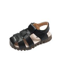 2019 קיץ ילדי נעלי ילדים לנשימה רך עור סנדלי חוף נערי סנדלי חיצוני EVA בלעדי נעליים יומיומיות(China)