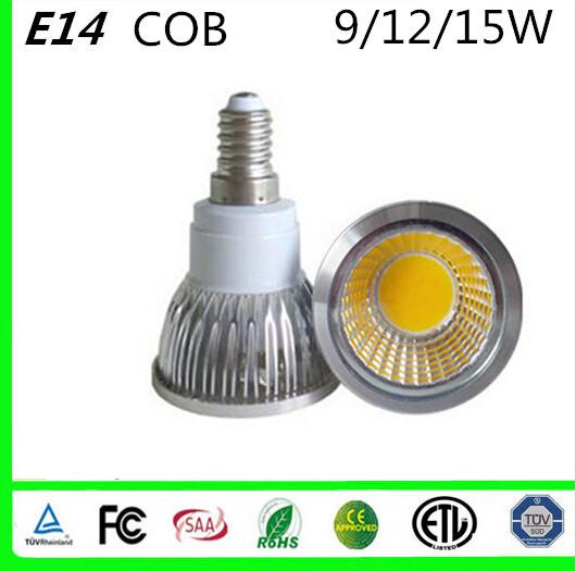 1pcs Dimmable 9W 12W 15W GU10 E27 E14 B22 GU5.3 MR16 cob bulb LED Bulb Light Warm White Cold White Spotlight For Room illuminate(China (Mainland))