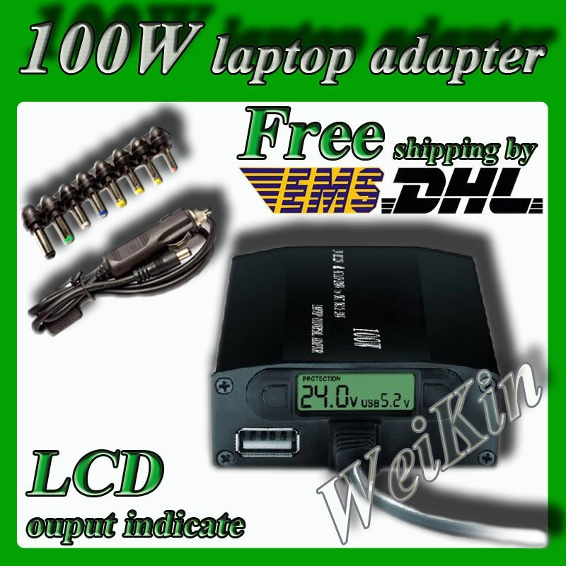 Гаджет  Universal laptop adapter 100W notebook adapter with LCD display and car charger adaptor power supply Use in Car&home None Компьютер & сеть