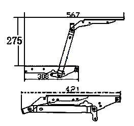 Wall  cabinet hinge, coffee table mechanism