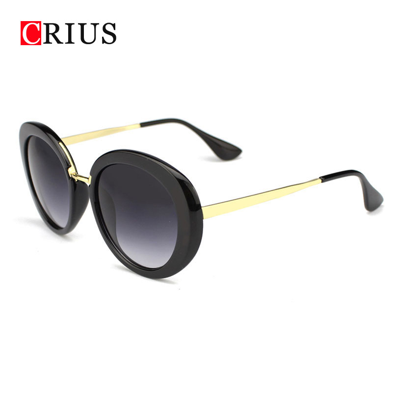 Women sunglasses for woman round frame retro sun glasses factory wholesale brand vintage band Metal alloys High quality 2016 new(China (Mainland))