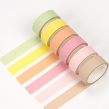 Pure color tapes 15mm*8m Japanese washi tape diary book decoration scrapbooking Masking item Stationery school supplies F583 - Patty's stationery shop store