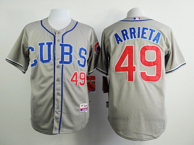 #49 Jake Arrieta Jersey Chicago Cubs Jersey Embroidery Logo Sports Sportswear Baseball Jerseys Free Shipping 803(China (Mainland))