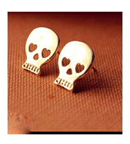 ES774 Hot New  Fashion European And American Big Skull Earrings Mischa Barton Wishing Clavicle Wholesale<br><br>Aliexpress