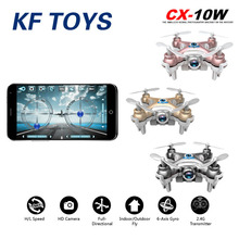 Cheerson CX10W RC Quadcopter Wifi FPV Camera 3D Flip 4CH CX10 Update Version Mini Drone Hobby Mobile Control Helicopter