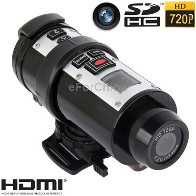 Free Shipping 720P CMOS 5.0 Mega Pixels Sports Waterproof Digital Video Camera Support TV-Out HDMI SD Card(China (Mainland))