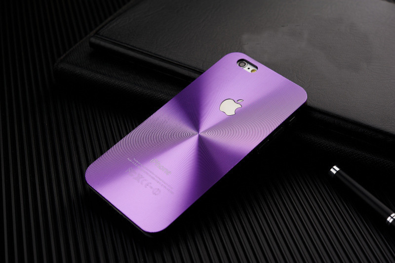 Luxury Hybrid CD Grain Cover For 4 4S 5 5S 6 6S 6plus 6splus Brushed Full Aluminum Hard Phone Case with LOGO Shell E031
