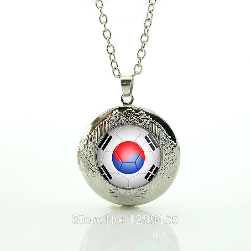 South Korea football team logo Football Teams Jewelry Leisure series essential Classic Collection Personalized gift for men N514(China (Mainland))