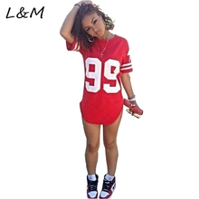 2016 new arrival Fashion Active style casual dress red colors print 99 female summer short dress women summer sweat suit(China (Mainland))