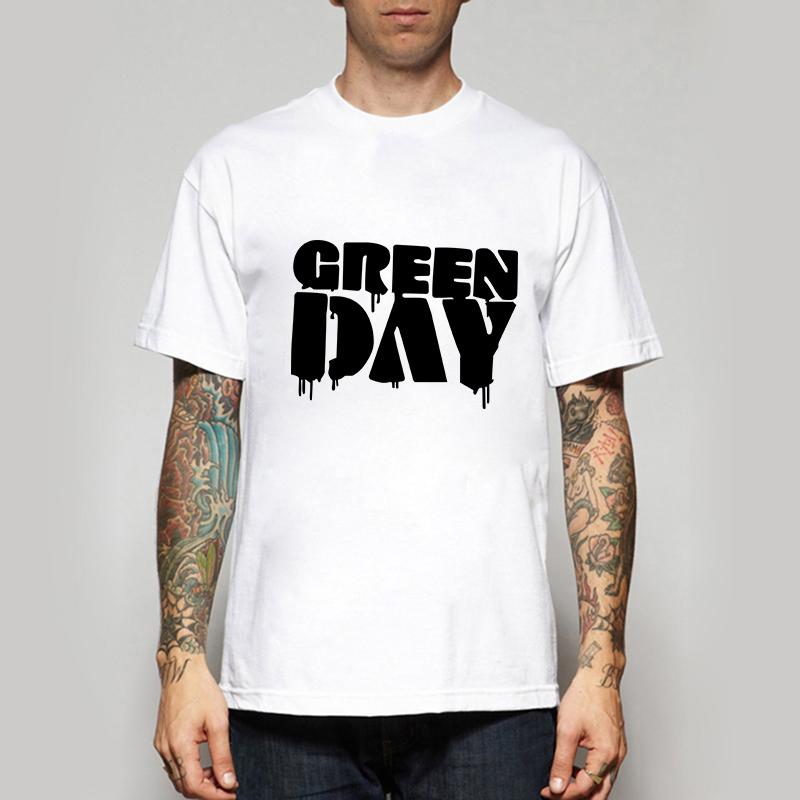Men T-shirts Music Band Green Day T Shirts Summer Short Sleeve Tops Tees Fashion Tshirts Free Shipping Camisetas(China (Mainland))