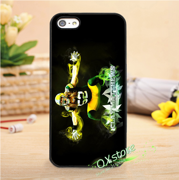 Clay Matthews green bay packers fashion phone cover case for iphone 4 4s 5 5s SE 5c 6 6s 6plus & 6s plus #Q116(China (Mainland))