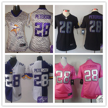Signature 2016 Women Ladies Minnesota Vikings, 5 Teddy Bridgewater 28 Adrian Peterson 84 Cordarrelle Patterson(China (Mainland))