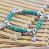 8 образцов животных & ключевых & звезды слонов браслет ретро богемный стиль бисером женщин браслет Бирюза ювелирные