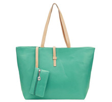 TOYL large summer women tote bag Green casual women Bag ladies leather handbags handbags of famous brands with purse