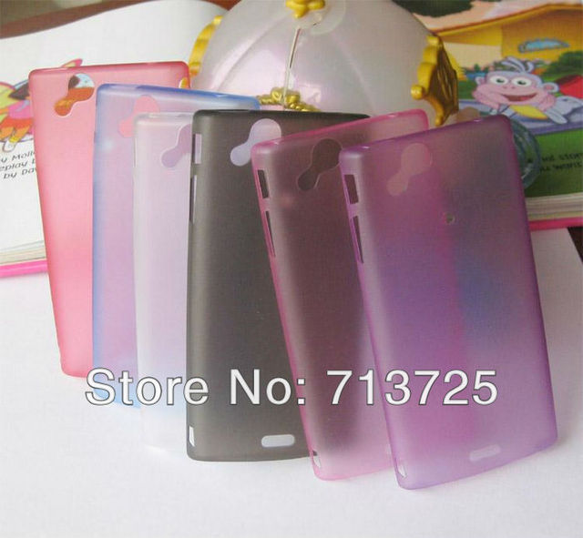 Ultra Thin Super Slim 0.4mm Skin Case Forested Transparency for SONY ERICSSON Xperia Arc S LT18i LT15i X12, 10pcs free shipping