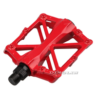 New 5 Colors 1 Pair MTB BMX Mountain Road Gel Bike Bicycle Cycling Pedal Steel Aluminium Alloy Flat Pedals Free Shipping 9100