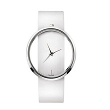 2016 Rushed Sale Fashion Women Watches Quartz Casual Transparent Hollow Dial Leather Wristwatches Watch Relogio Feminino