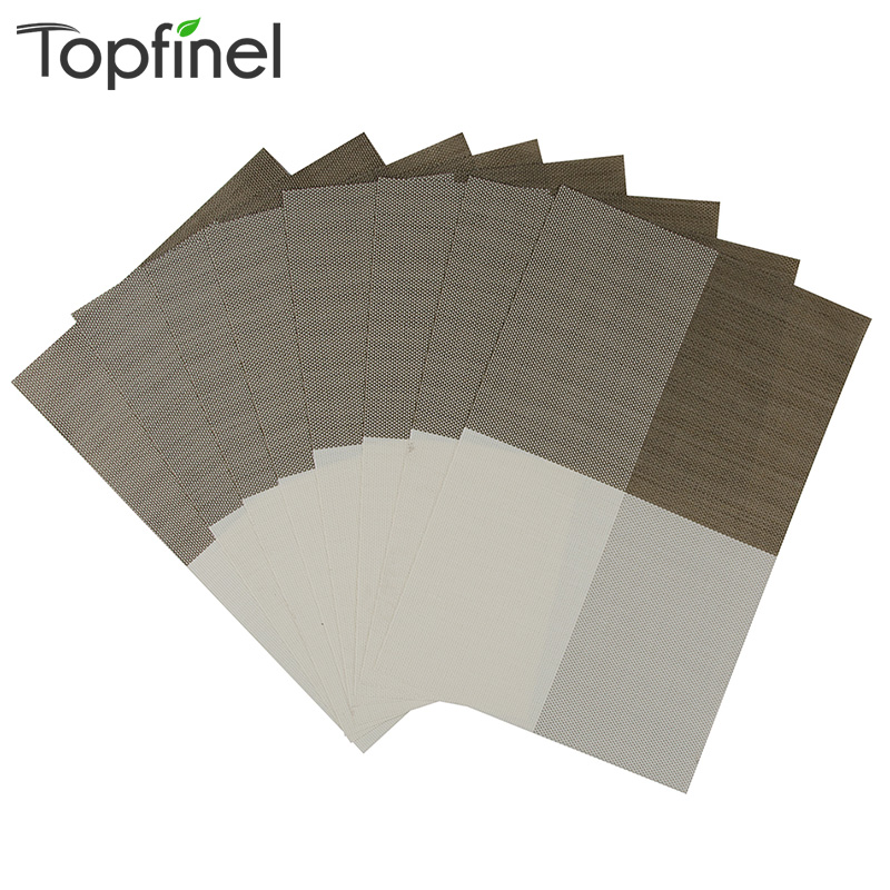 Top Finel 2016 Set of 8 PVC Color Block Placemats for Dining Table Runner Linens Place Mat in Kitchen Accessories Cup Wine Mat(China (Mainland))