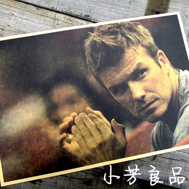 """Vintage Style Retro Paper Poster Good Gifts,16"""" x 11"""" David Beckham,the forever No.7 and captain of England(China (Mainland))"""