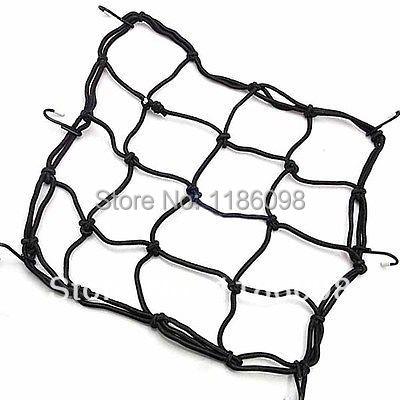 Free Shipping Moto Bike Motorbike Luggage Rack Cargo Hold Down Mesh Net Web Bungee Cord 6 Hook Y1358 q4j6s(China (Mainland))