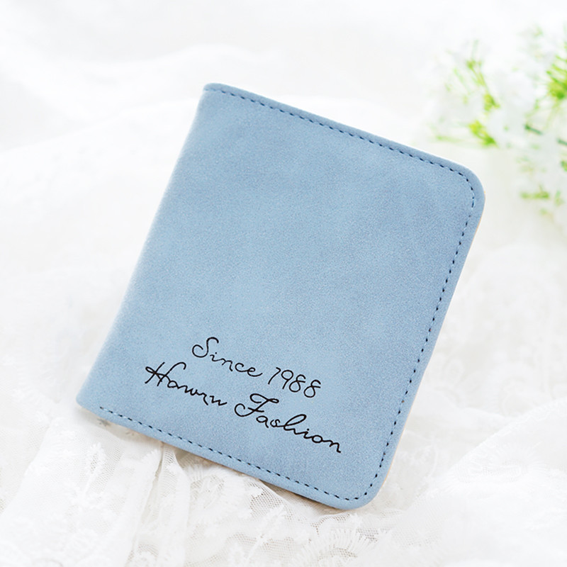 Luxury Brand New Design Female Short PU Leather Wallet Fold multifunction Coin Purse Slim Woman 11 Colors High Quality 40(China (Mainland))